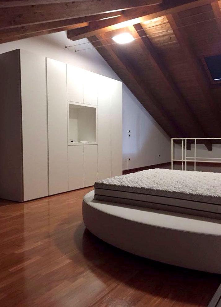 Realizzazione camera da letto in mansarda tomasella casa - Camera da letto in mansarda ...